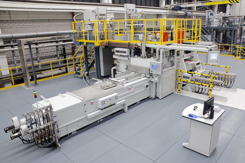 Vakuumturbinenschaufelbeschichtung EB/PVD Produktionssysteme Type SL XXL